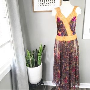 Vintage Victoria's Secret lace maxi night gown M